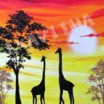 Giraffe Sunset Safari